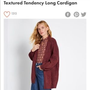 Textured Tendency Long Cardigan from ModCloth